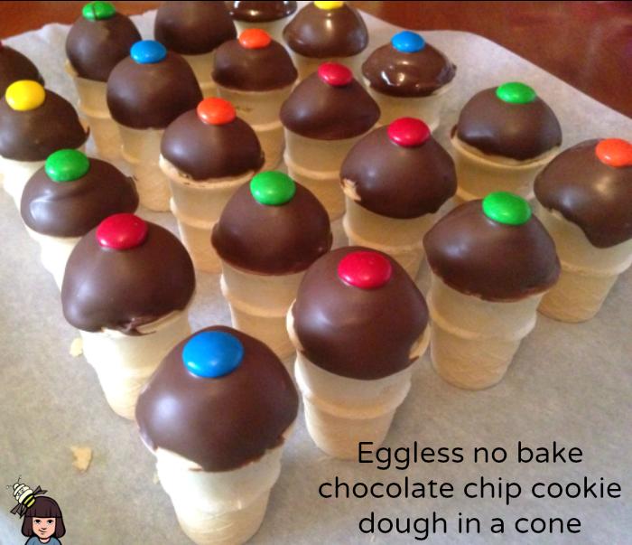 egg free no bake chocolate chip cookie dough