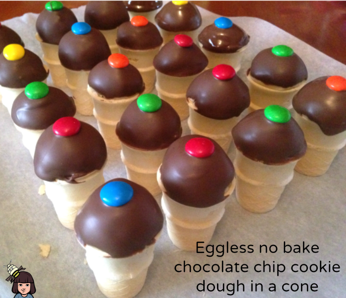 egg free no bake chocolate chip cookie dough
