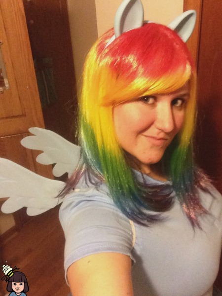my little pony rainbow dash cosplay