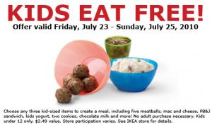 Ikea free kids meals 7 23 7 25 a blender mom for Ikea free kids meal