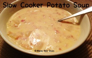 Slow cooker potato soup recipe