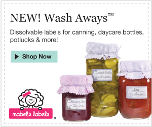 Mabel's Labels new Wash Away labels