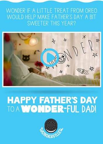 OREO father's day e-card giftcard giveaway
