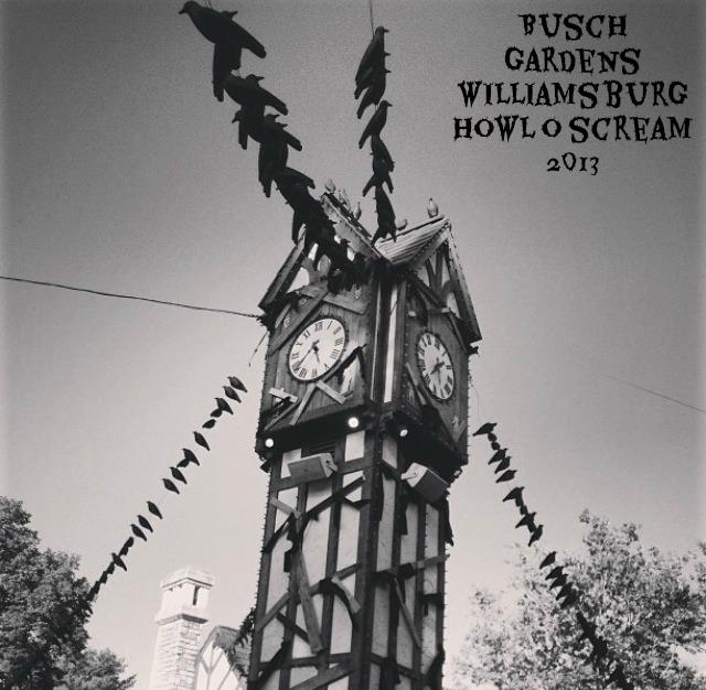 busch gardens clock tower howl o scream