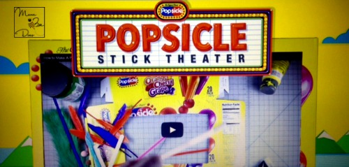 popsicle theater craft for kids