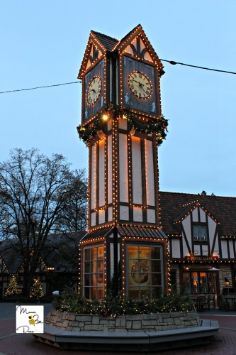 Christmastown clock tower lights