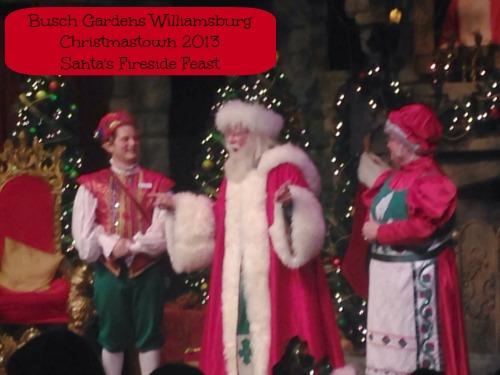 Christmas town Santa's fireside feast