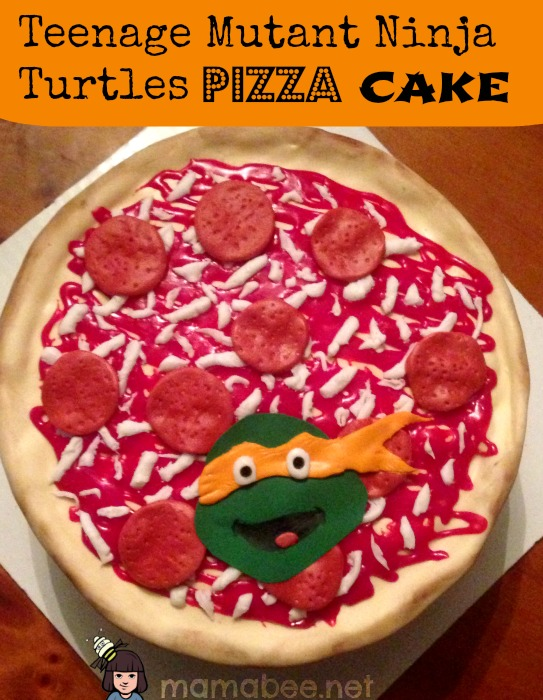Teenage Mutant Ninja Turtles pizza cake - A Blender Mom - A