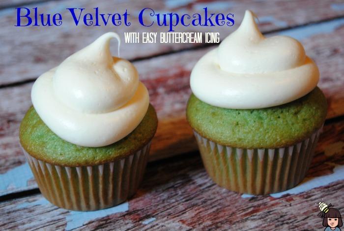 blue velvet cupcakes easy buttercream icing