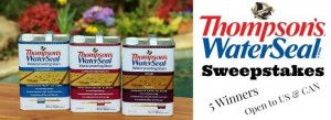 Thompson's WaterSeal 5 ($120) deck care kit #giveaway (8/14, US/CA)