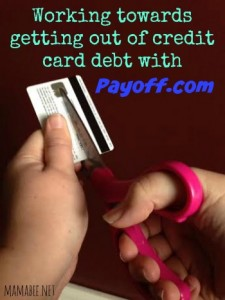 Trying to work my way out of credit card debt with Payoff #payoffmindset #ad #PMedia