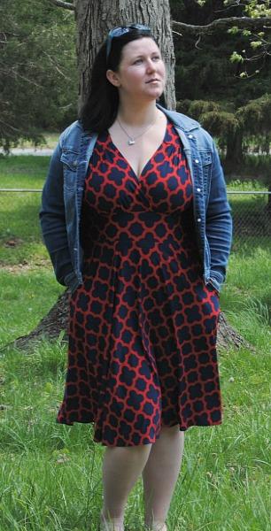 mom style dress pockets plus size