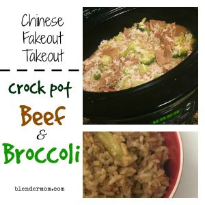 Takeout at home- crock pot Chinese beef and broccoli recipe