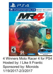 Moto Racer 4 for PS4 #giveaway (4 winners)