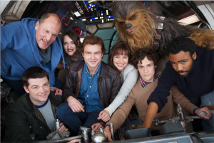 han solo story movie production