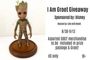 I Am Groot giveaway (US, 9/13) #GOG2 #IAmGroot #IAmGrootGiveaway