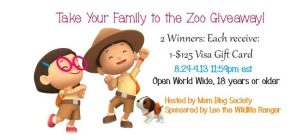 Take your family to the zoo #giveaway (win $125 Visa)