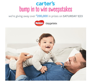 Carter's bump in to win sweepstakes
