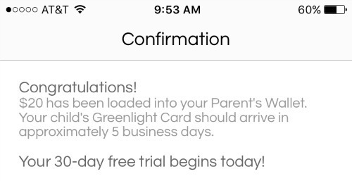 greenlight debit card app