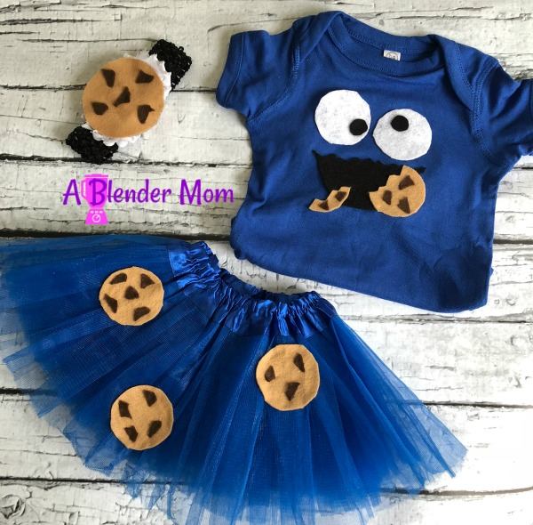 cookie monster costume DIY shirt tutu headband