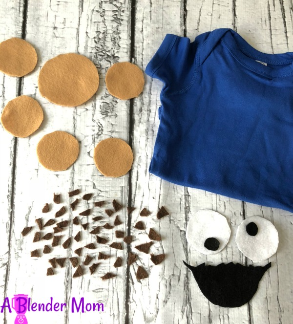 cookie monster costume shirt DIY