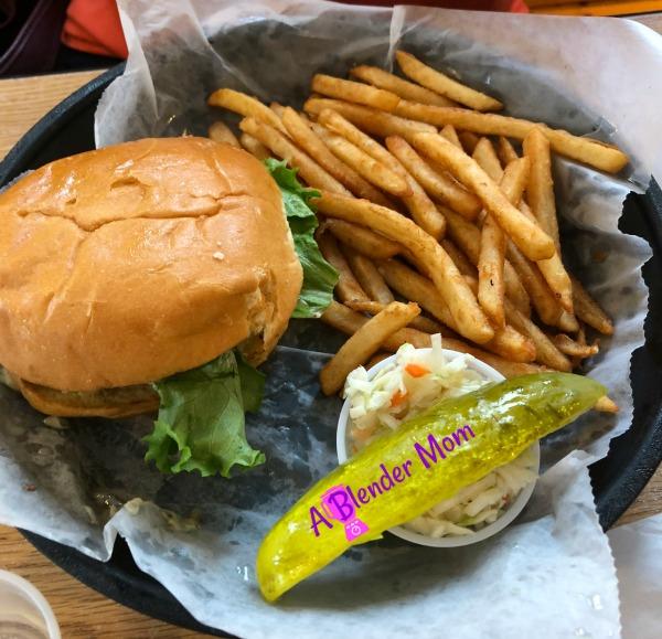 Johnny Ds Waffles cheeseburger fries