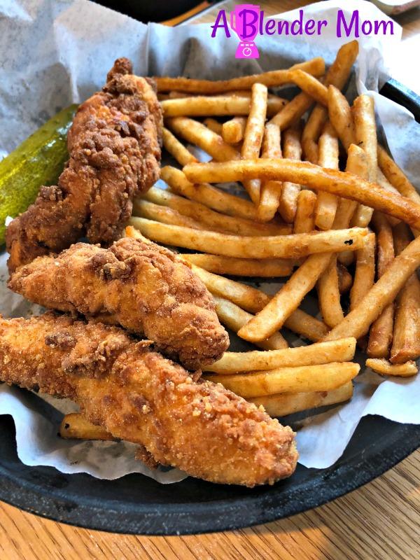 Johnny D's Waffles chicken tenders fries