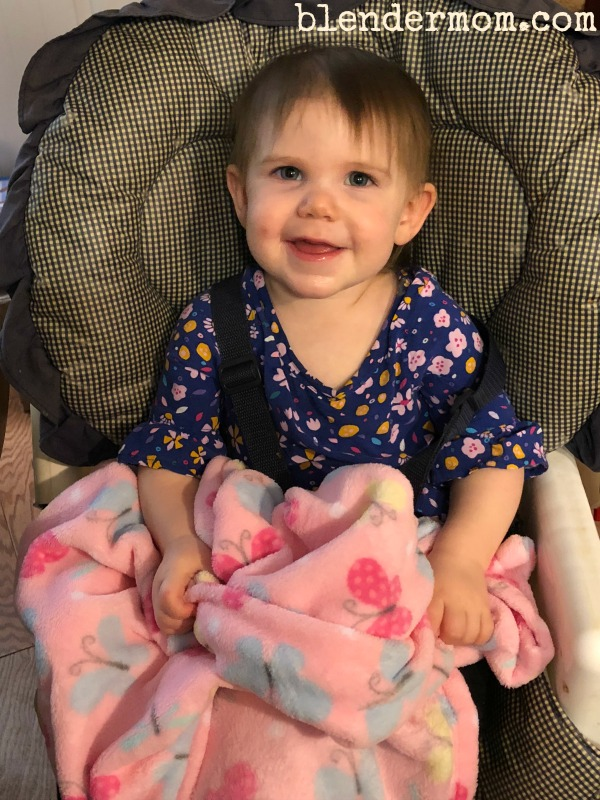 Parents Choice plush blanket pink buterflies