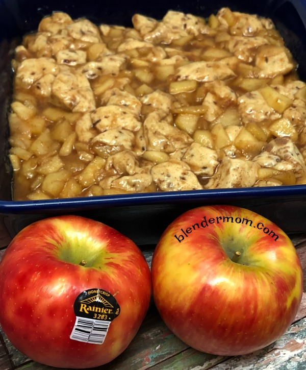 Rainier apples apple fritter brunch casserole recipe