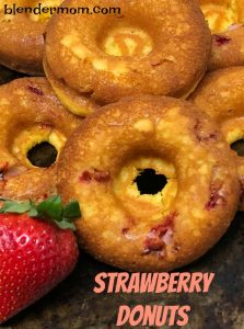 Baked Strawberry Donuts recipe #EasterSweetsWeek