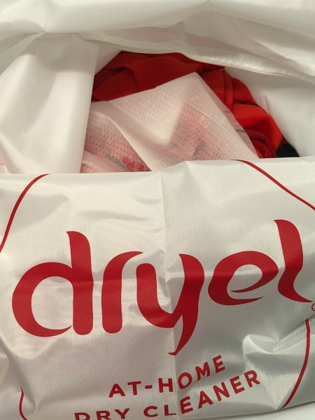 Dryel at home dry cleaner bag