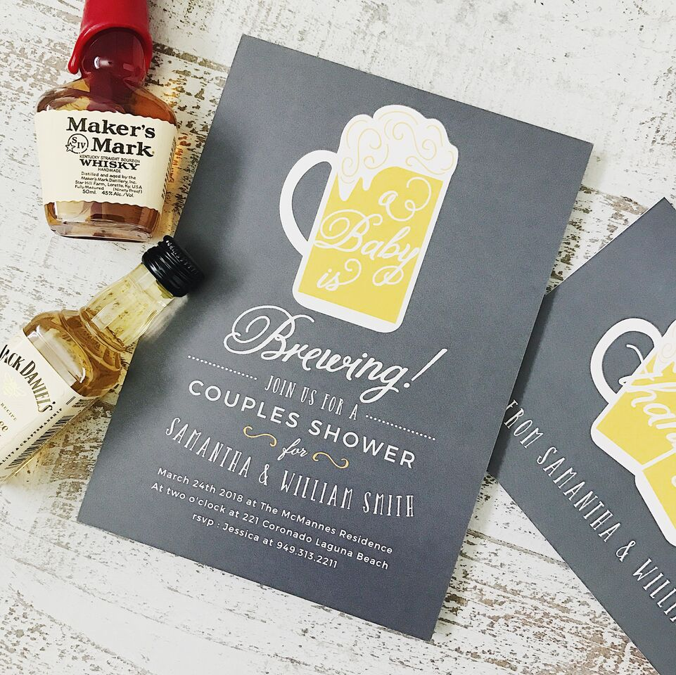 baby brewing baby shower invitations Basic Invite