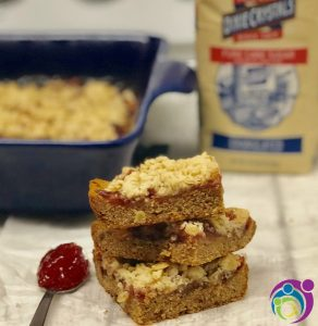 Peanut Butter and Jelly Crumble Bars Recipe {w/ giveaway} #ad #SummerDessertWeek