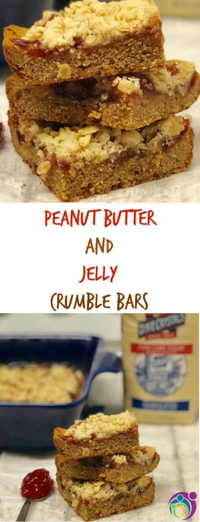 peanut butter and jelly crumble bars recipe pinterest