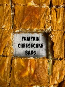 Pumpkin Cheesecake Bars recipe {BIG #giveaway} #ad #HalloweenTreatsWeek