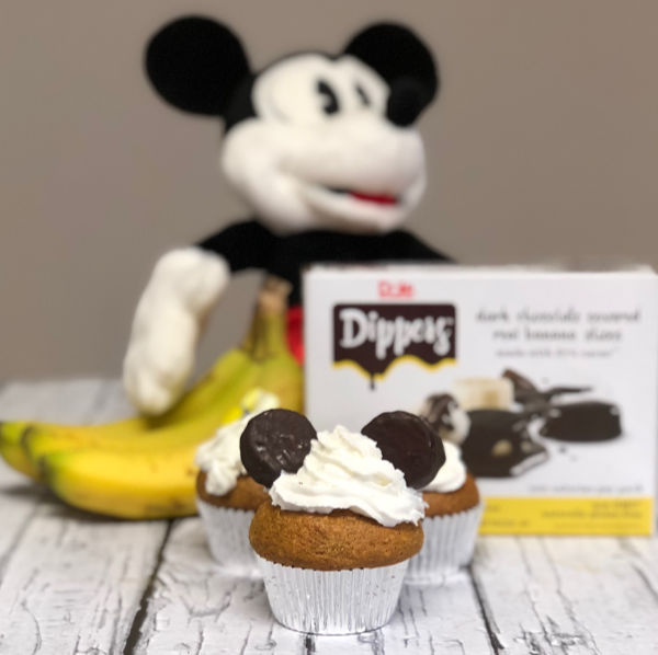 Mickey Mouse 90th birthday coco-nana cupcakes