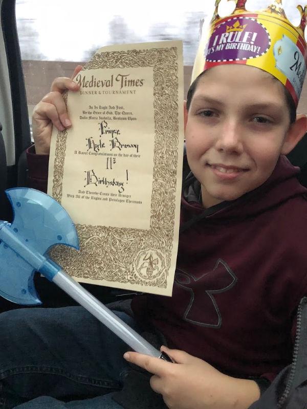 Medieval Times NJ birthday celebration