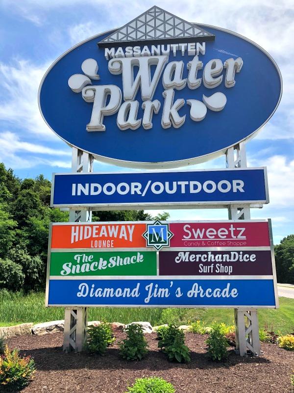 massanutten water park sign