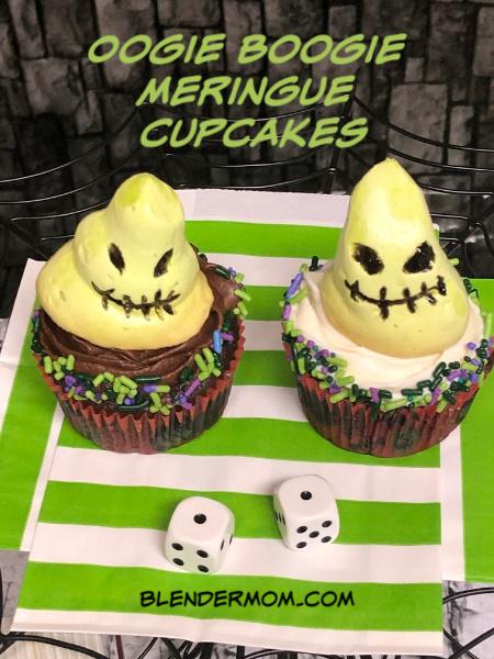 oogie boogie meringue cupcakes