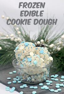 Frozen edible cookie dough