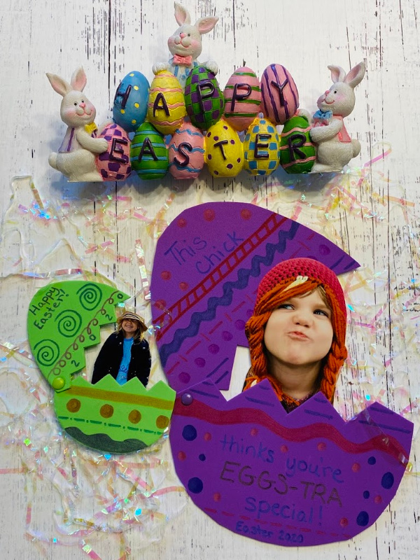 Easter craft photo magnet gift