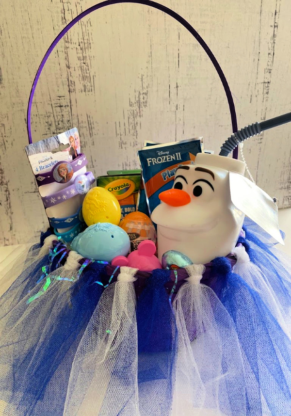Frozen theme tutu Easter basket