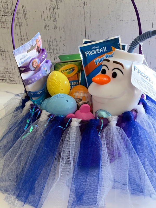 Frozen tutu Easter basket