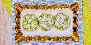 St. Patrick's Day crinkle cookies