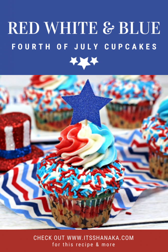 red white and blue fourth of july cupcakes recipe