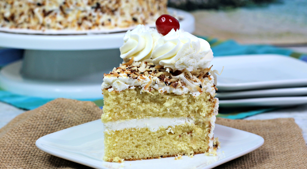 Pina Colada cake pineapple coconut rum cake recipe
