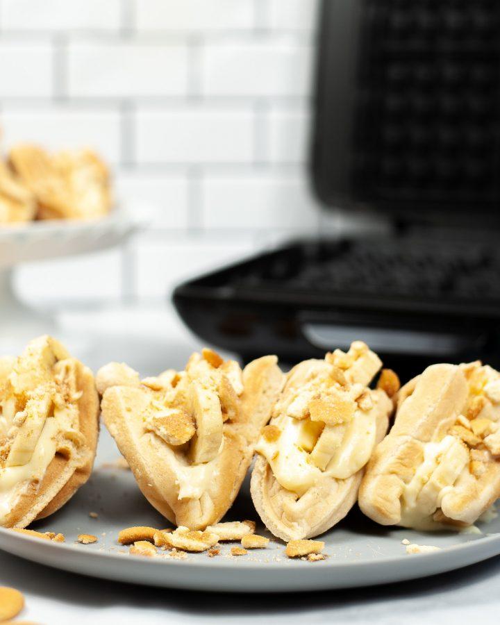 banana pudding waffle tacos