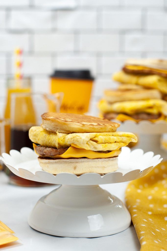 sausage egg cheese homemade mcgriddle