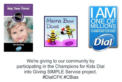"""""""Champions for Kids Dial into Giving simple service project #DialCFK"""""""
