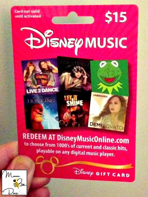Disney music gift cards